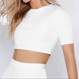 Nasty Gal Settle The Score Crop Top NWT